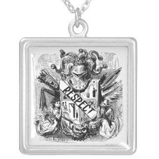 Respekt-Wappen Respekt und Ehre Versilberte Kette