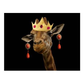 Respektieren Sie bitte die Königin Postkarte