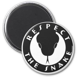 Respektieren Sie den Schlangen-Magneten Runder Magnet 5,1 Cm