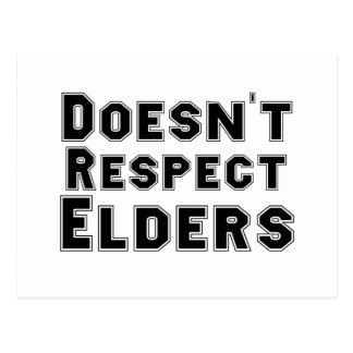Respektiert nicht Älteste Postkarte
