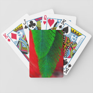 Resplendent Quetzal-Feder abstrakt Bicycle Spielkarten