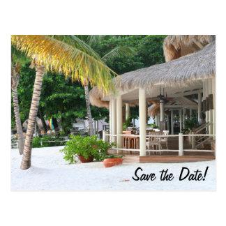 Restaurant und Bar Heiliger Lucia auf dem Strand Postkarte
