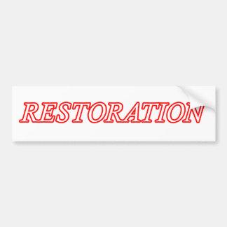 Restoration.png Autoaufkleber