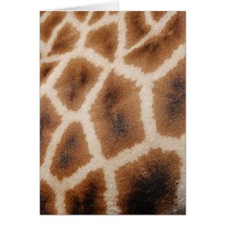 Retikuliertes Giraffen-Muster-wildes Karte