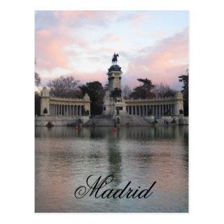 Retiro Park, Madrid, Spanien Postkarte