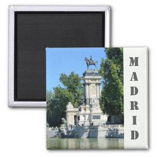 Retiro Park, Magnet Madrids, Spanien Quadratischer Magnet