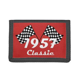 Retro 1957 klassische schwarze u. weiße Zielflagge
