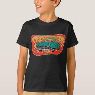 Retro '54 Chevy im T - Shirt des Flammen-Kindes