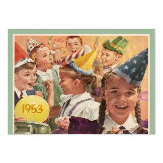Retro 60. Geburtstags-Party-Kindheits-Erinnerungen Individuelle Einladungskarten