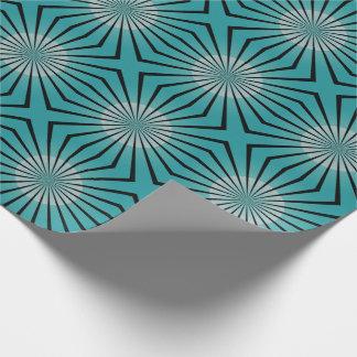 Retro 70er aquamarines Verpackungs-Papier Einpackpapier
