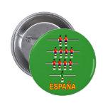 Retro 74 Tabellen-Fußball Foosball Espana Spanien Buttons
