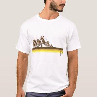 Retro 80er Brown/Goldpalmen T-Shirt