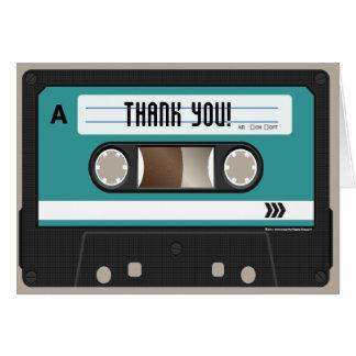 Retro 80er Kassette Mixtape personalisiert Karten