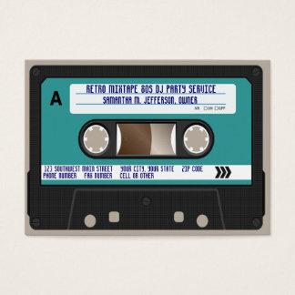 Retro 80er Kassetten-Band Jumbo-Visitenkarten