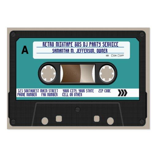 Retro 80er Kassetten-Band Visitenkartenvorlagen