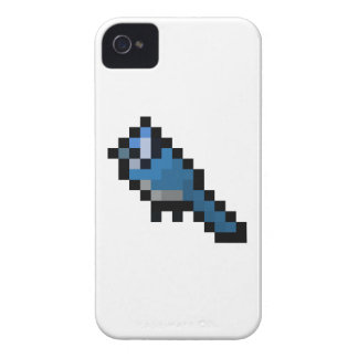 Retro 8-Bitblauhäher iPhone 4 Hüllen