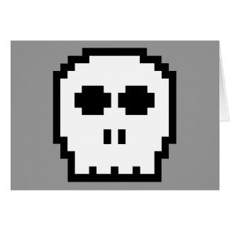 Retro 8-Bitschädel Karte