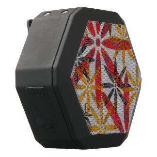 Retro abstrakte Blumen Schwarze Bluetooth Lautsprecher