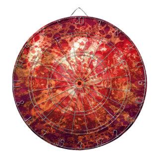Retro abstrakte Kunst-Wirbels-Blasen-rotes lila Dart-scheibe