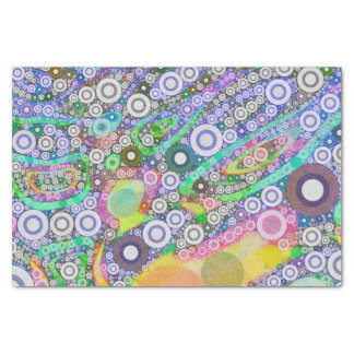 Retro abstraktes Kreis-Muster Seidenpapier