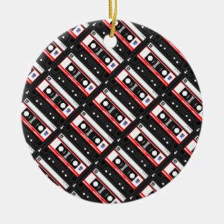 Retro Achtzigerjahre Kassette Rundes Keramik Ornament