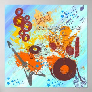Retro Achtzigerjahre Musik-Plakat
