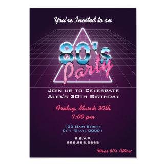 Retro Achtzigerjahre Party Einladung