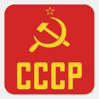 Retro Achtzigerjahre UDSSR CCCP die Sowjetunion Quadratischer Aufkleber