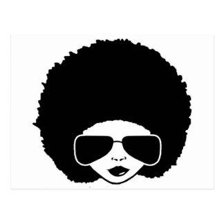 Retro Afromädchen Postkarte