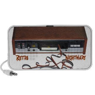 Retro Albtraum-Gekritzel-Lautsprecher iPhone Lautsprecher