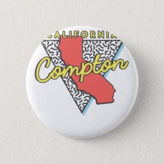 Retro Andenken Comptons Kalifornien Runder Button 5,7 Cm