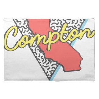 Retro Andenken Comptons Kalifornien Stofftischset