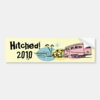 Retro Anhänger Hitched gerade kundenspezifischen Autoaufkleber