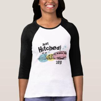 Retro Anhänger Hitched gerade personalisierten T - Shirt