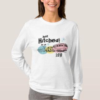 Retro Anhänger Hitched gerade personalisierten T - T-Shirt