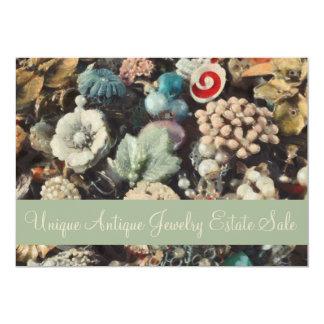 Retro Antike und Vintager Schmuck-Anwesen-Verkauf 12,7 X 17,8 Cm Einladungskarte