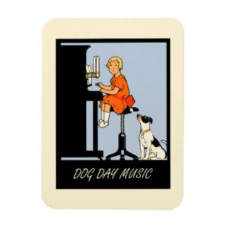 Retro Art der Hundstagmusik Flexible Magnete