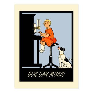 Retro Art der Hundstagmusik Postkarten