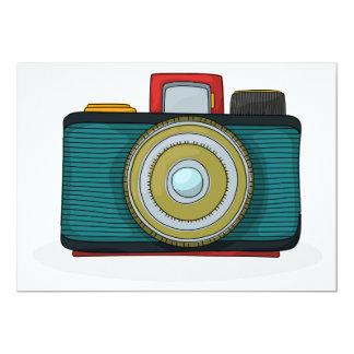 Retro Art-Kamera-Einladungen 12,7 X 17,8 Cm Einladungskarte