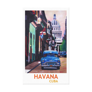 Retro Art Kubas Havana Leinwanddruck