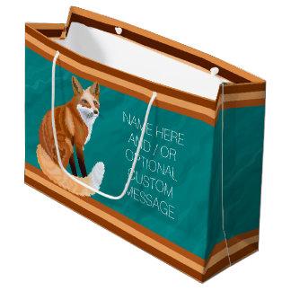 Retro Art-kundenspezifisches Geschenk roten Fox Große Geschenktüte