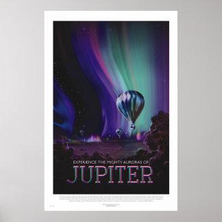 Retro Art-Raumfahrt-Plakat - Jupiter Poster