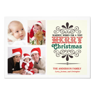 Retro Art Weihnachtenc$tri Foto flache Karte 12,7 X 17,8 Cm Einladungskarte