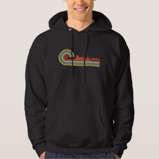 Retro Art-Wilmington-North Carolina-Skyline Hoodie