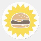 Retro Aufkleber des Burger-|