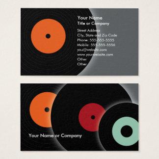 Retro Aufzeichnung DJ-Visitenkarte Visitenkarte