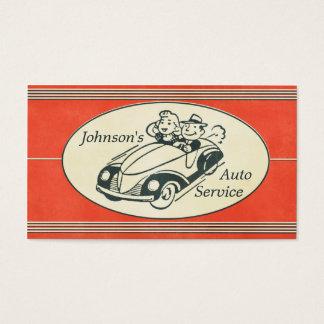 Retro Auto-Service und Reparatur Visitenkarte