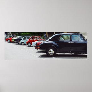 Retro Autoausstellung Poster