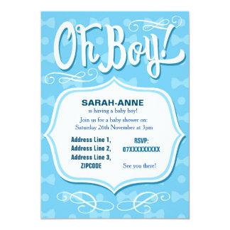 Retro Baby-Babyparty-Einladung Karte