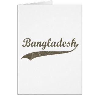 Retro Bangladesch Karte